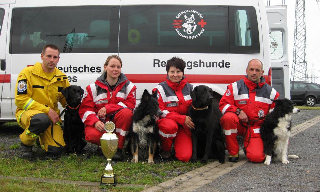Rettungshunde Team beim Rescue Camp 2011 in Dresden