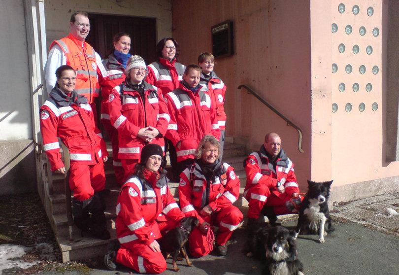 Rettungshundestaffel Hof Saale im Einsatz